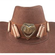DAZCOS-Brown-Jesse-Mccree-Cosplay-Badge-Cowboy-Hat-0-1