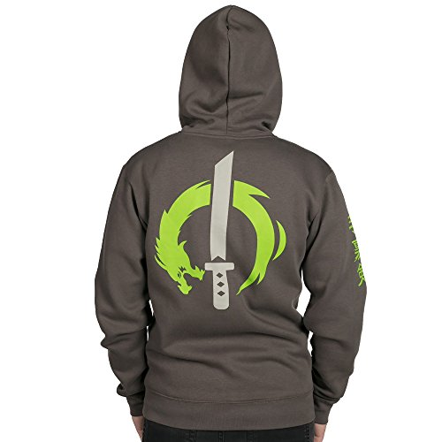 7e1ea5e76 JINX Overwatch Ultimate Genji Zip-Up Hoodie | Overwatch Merchant