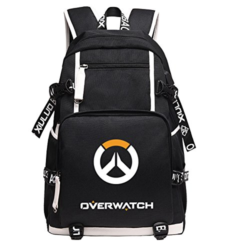 3c81b8f45e44 YOURNELO Overwatch Canvas School Backpack